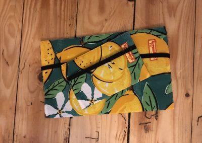 geigenberg - windelrasche mit dazu passender mutter- kind - pass -hülle zitrone